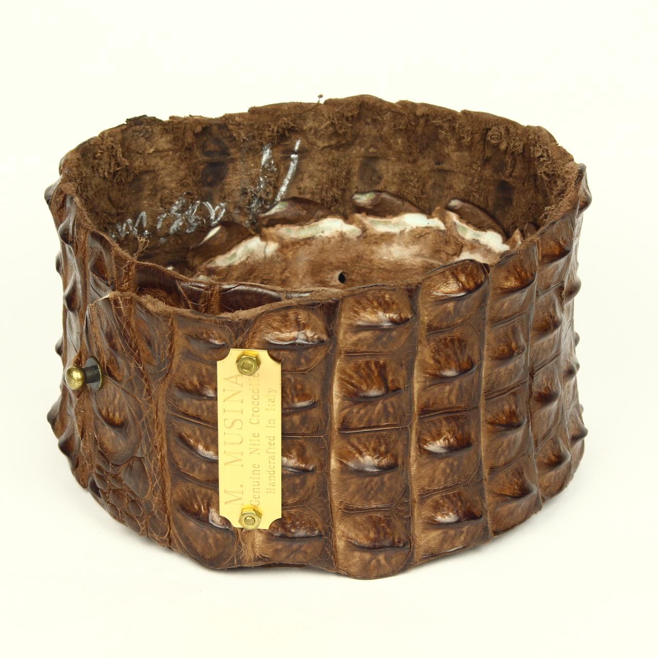 The Estate Gallery LLC M Musini Crocodile Belt