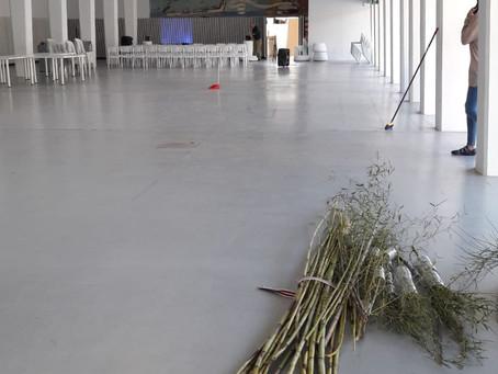 Empezamos el montaje de Reiniciando el Sistema 2019, edificio Séneca.
