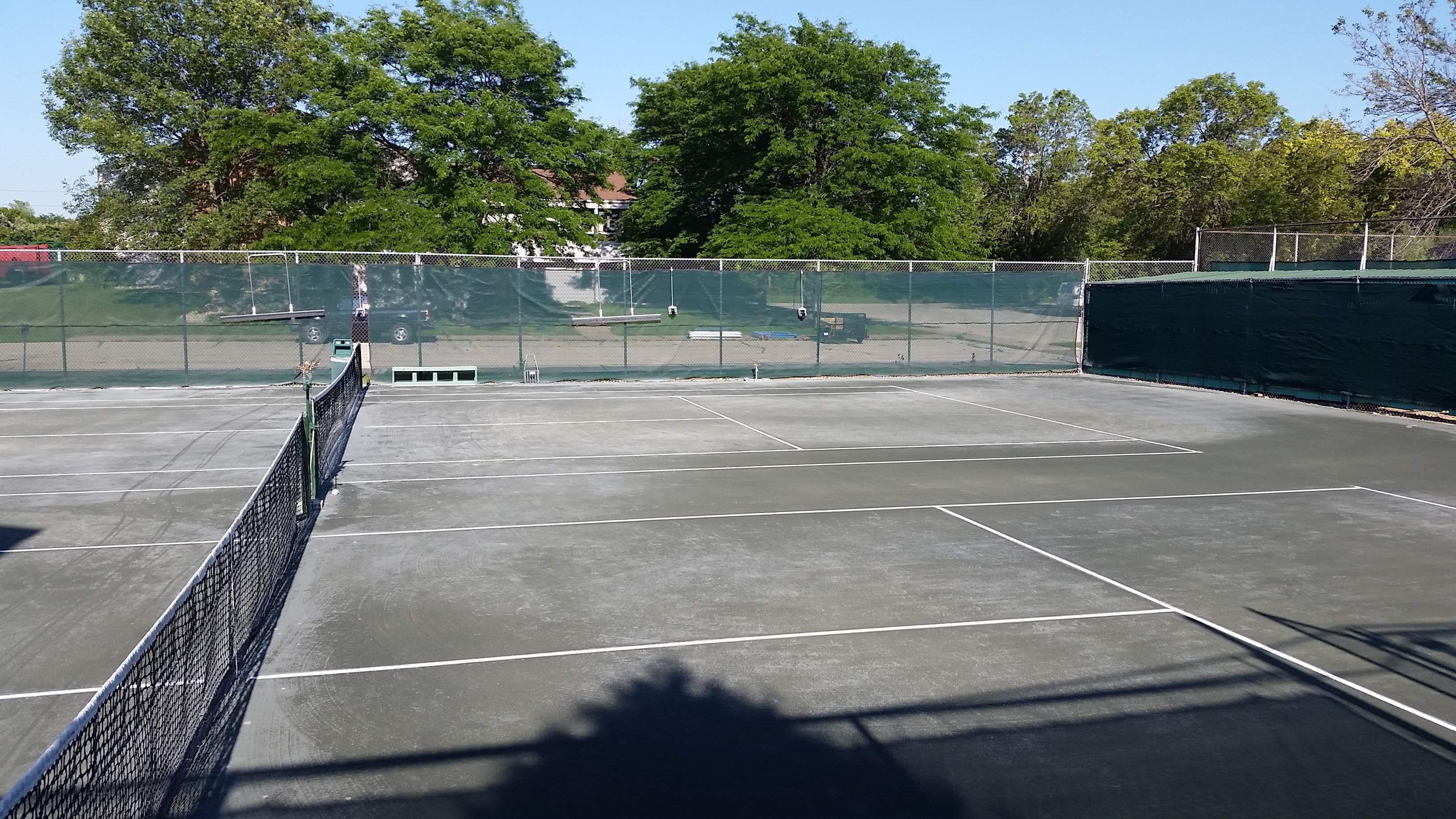 Two Outdoor Clay Courts