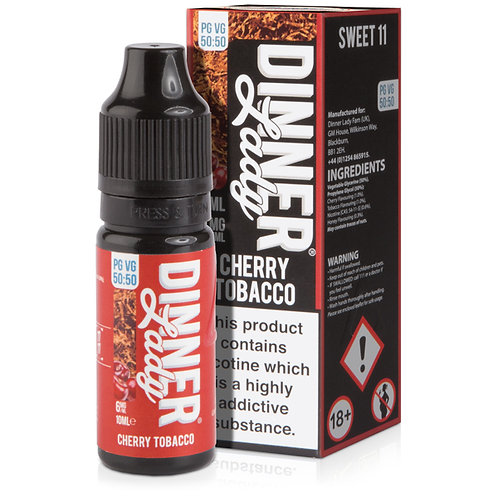 Cherry Tobacco E-Liquid by Dinner Lady 50/50 10ml Bottle