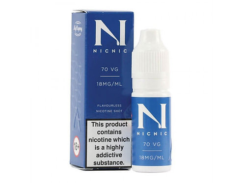 Nic Nic 70 VG Nicotine Shot by My Vapery (18mg)