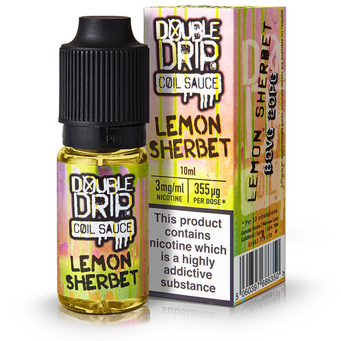 Lemon Sherbet E-Liquid by Double Drip 80/20 10ml Bottle