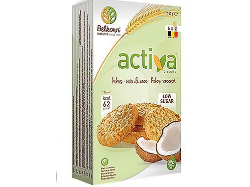 Belkorn Activa Low Sugar Coconut Biscuits 150g