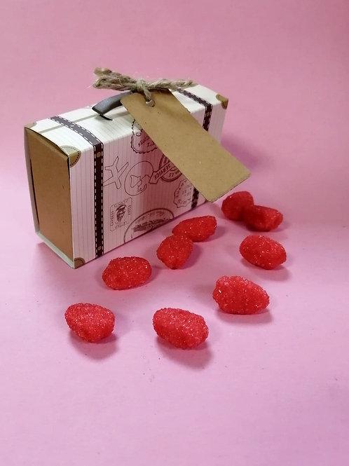 Mini Strawberry Foam - Halal - Fancy Sweet Box 50g