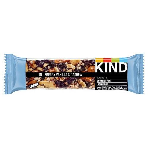 Kind Blueberry Vanilla And Cashew bar 40G