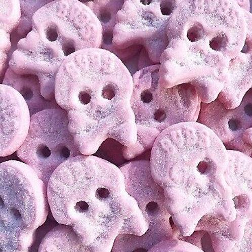 BUBS Raspberry foam skulls (6143) Vegan & Gluten-free Sweets Bag