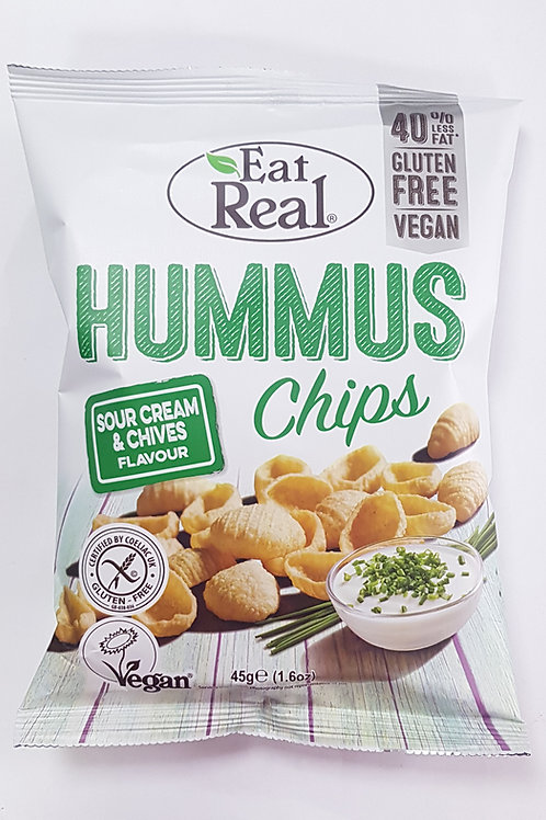Eat Real Hummus Chips  Sour Cream & Chives 45g