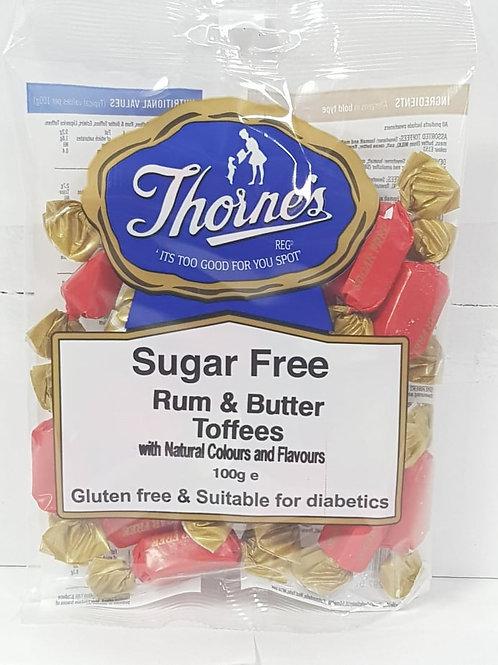 Thornes Sugar-free Rum & Butter Toffee 100g