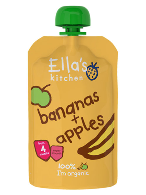 Ella's Kitchen- Banana & Apple 120g