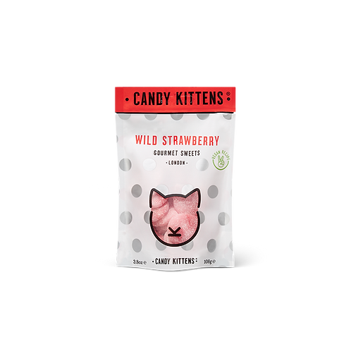 Candy Kitten - Wild Strawberry Gourmet Sweets 108g