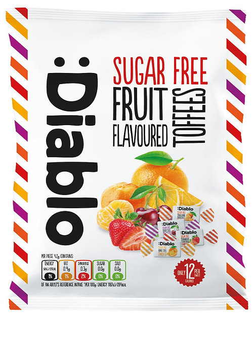 Diablo Sugar-Free Fruit Flavoured Toffees candy 75g