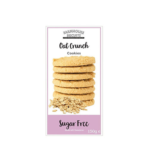 Farmhouse Sugar Free Oat Crunch Cookies Biscuits 150g
