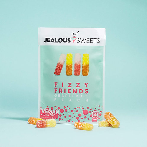 Jealous Sweets - Fizzy Friends - Grapefruit Peach 40g