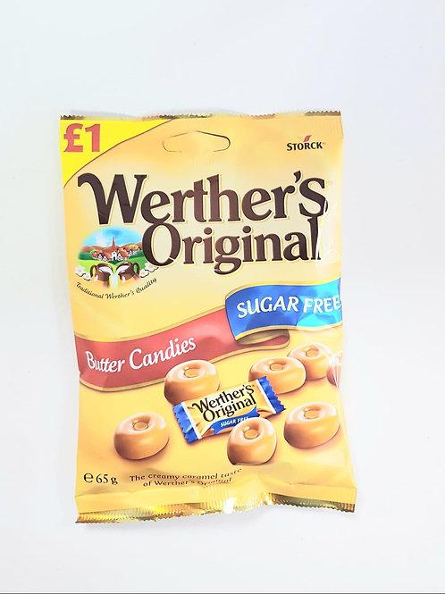 Werther's Original Butter Sugar free sweet Candies 65g