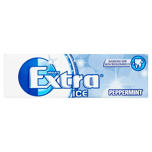 Wrigley's Extra Ice Peppermint Sugar Free Chewing Gum 14g