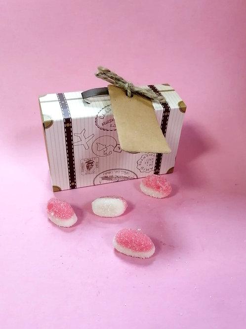 Strawberry Puffs - Halal - Fancy Sweet Box 50g