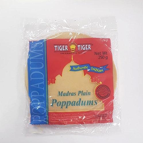 Tiger - Madras Plain Poppadums 250g