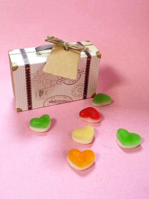 Fruity Hearts - Halal - Fancy Sweet Box 50g