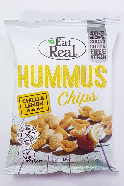 Eat Real Hummus Chips Chilli & Lemon 45g