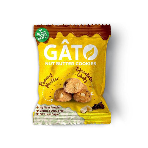 Gato Nut Butter - Peanut butter - Chocolate chip Cookies 33g