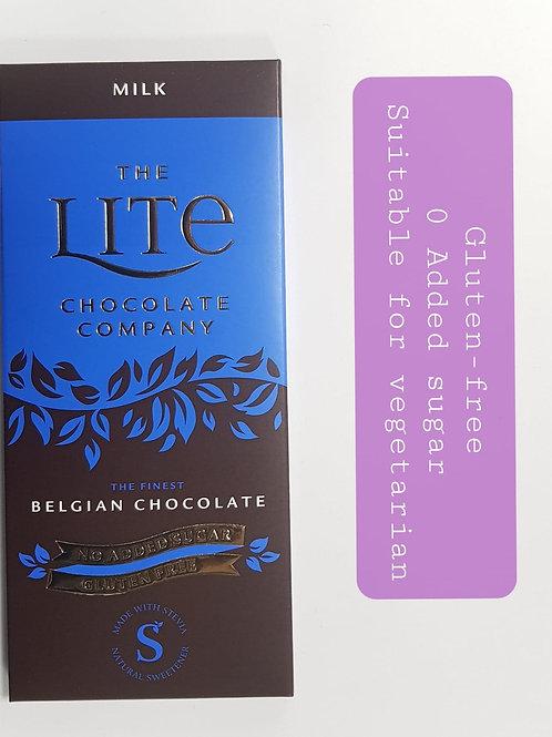 Lite Milk ChocolateFinest Belgian Chocolate 0 Added Sugar 85g