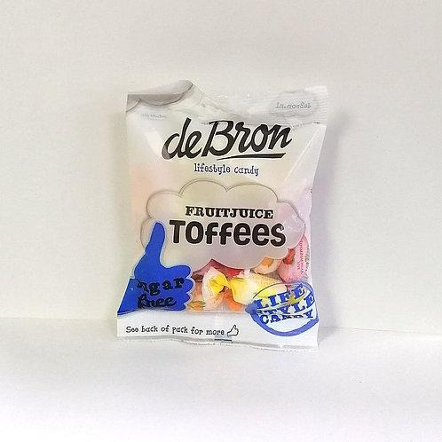 De Bron Sugar free Fruit Juice Toffees 90g