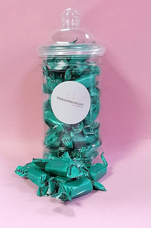 Stockleys Sugar free Mint Toffee Sweets Jar
