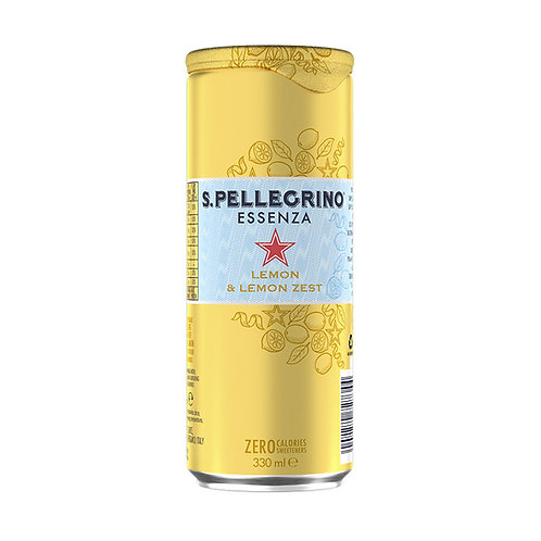 San Pellegrino Essenza Lemon & Lemon Zest 330ml
