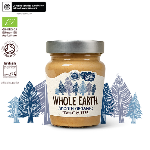 Whole Earth Peanut Butter Smooth  Organic 227g