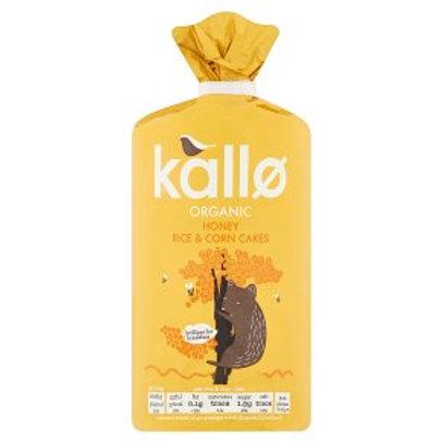 Kallo - Organic Honey Rice & Corn Cakes 125g
