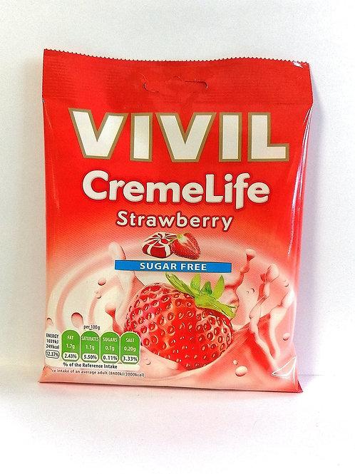 Vivil Cremelife Strawberry sugar free sweets 60g