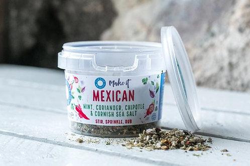 Cornish Vegan Sea Salt Mexican Mint, Coriander, Chipotle & Sea Salt 55g
