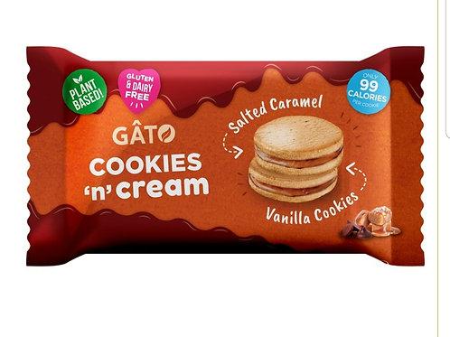 Gato Cookies n Cream Salted Caramel & Vanilla Cookies 42g