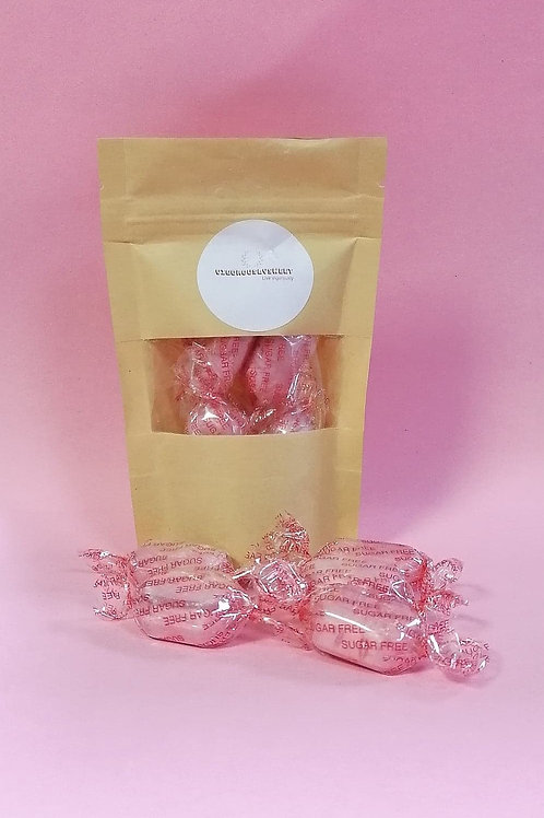 Stockley Sugar-Free Sherbet Strawberries Sweets Pouch