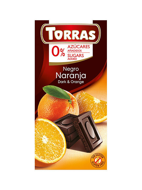 Torra Dark & Orange Chocolate 75g 0 Added Sugar