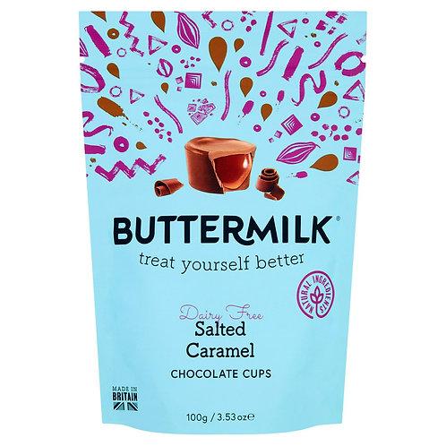 Buttermilk Salted Caramel Chocolate Cups 100g