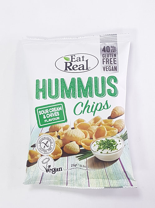 Eat Real Hummus Chips Sour Cream & Chives 25g