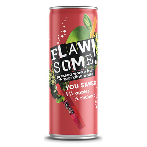 Flawsome Apple & Rhubarb lightly sparkling juice drink 250 ml