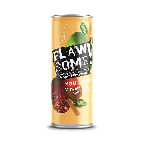 Flawsome Sweet & Sour Apple lightly sparkling juice drink 250ml