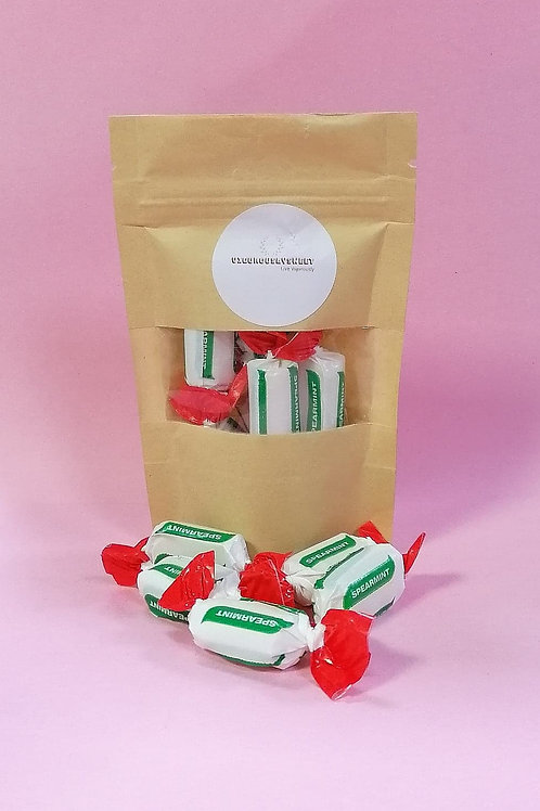 Stockley Sugar-Free Spearmint Chews Sweets Pouch