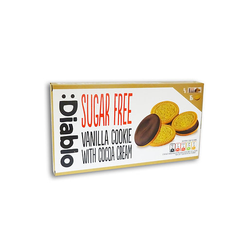 Diablo Sugar Free Vanilla sandwich Cookies with Cocoa Cream biscuits 176g