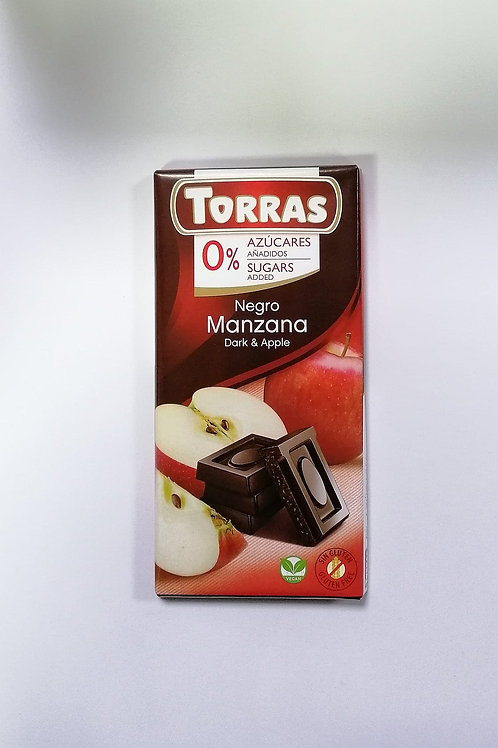 Torras 0 added sugar Dark & Apple Chocolate 75g
