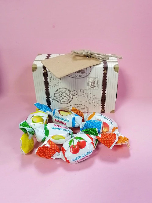 Liking Happy Fruits Mix Candy Fancy Sweet Box Vegan/Gluten Free 50g