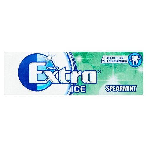 Wrigley's Extra Ice Spearmint Sugar Free Chewing Gum 14g