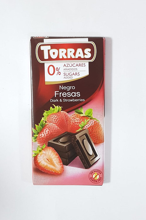 Torra Dark Strawberry Chocolate 75g 0 Added sugar