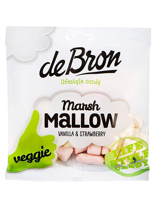 De bron Veggie Marshmallow Vanilla & Strawberry 75g