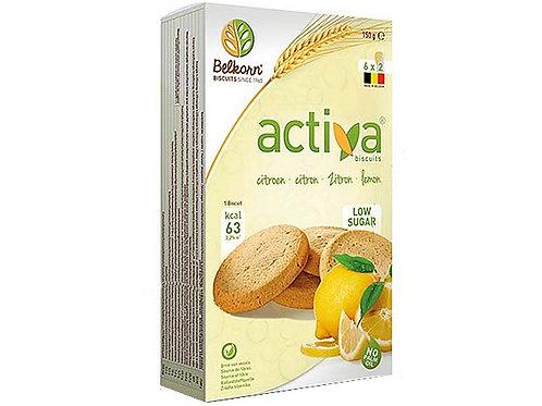 Belkorn ACTIVA Lemon no added sugar biscuit 150g