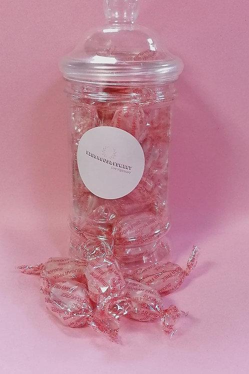Stockley Sugar-Free Sherbet Strawberries Sweets Jar