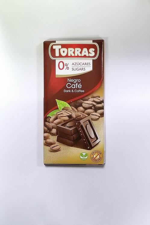Torras 0 added sugar Dark & Coffee Chocolate 75g