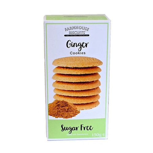 Farmhouse Sugar-Free Ginger Cookies Biscuits 150g